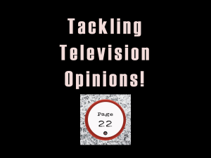 television opinions